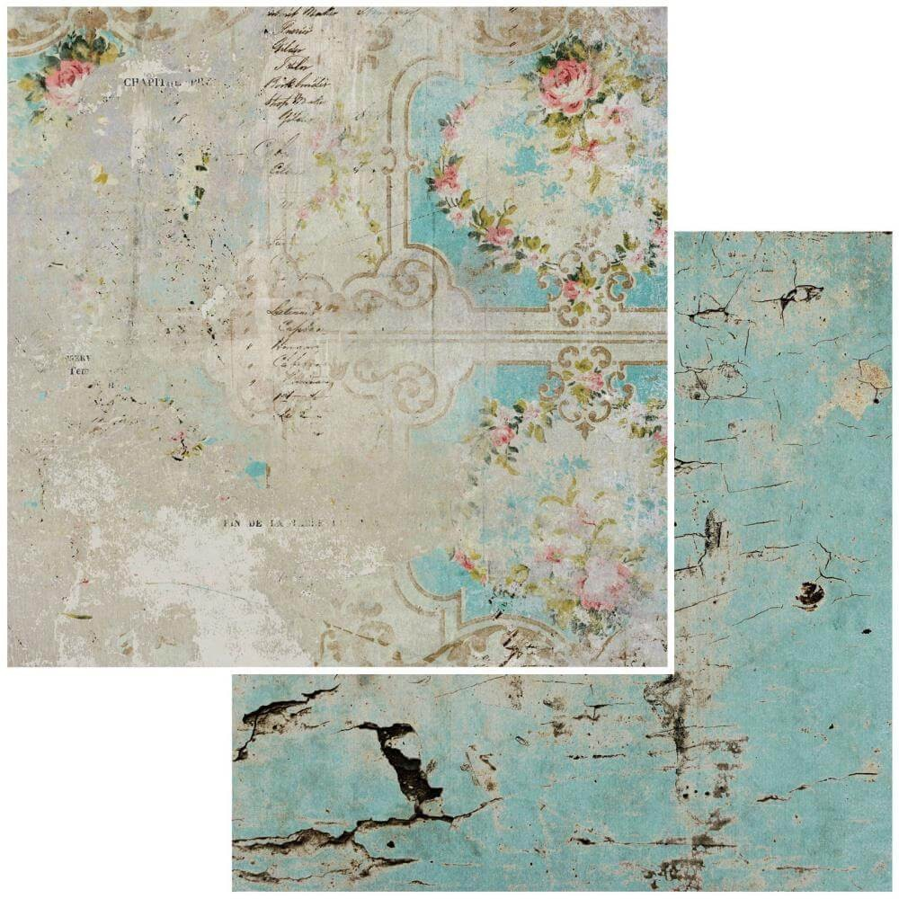 Papel Estampado Doble Cara 12x12 Vintage Remnants #10