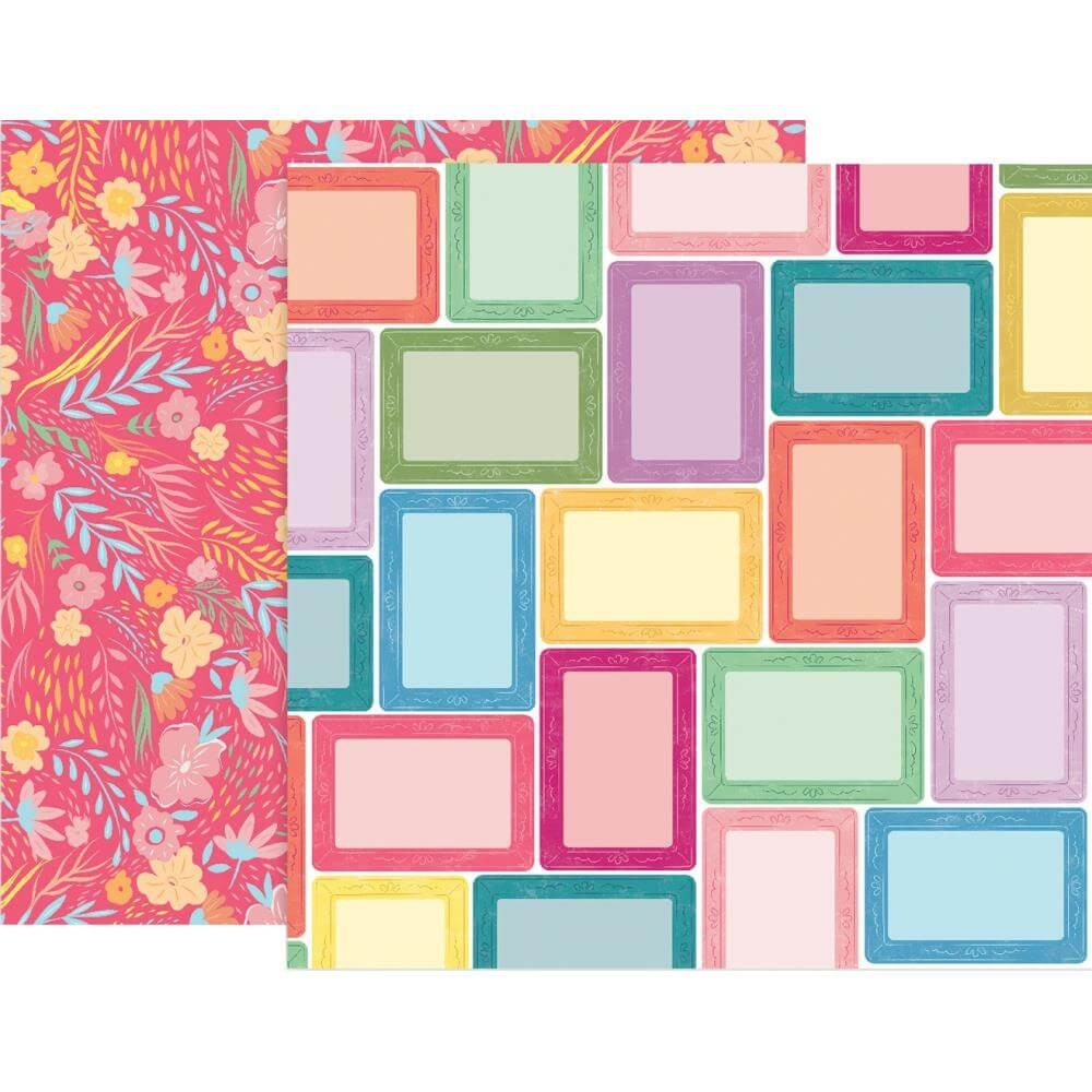 Papel Estampado Doble Cara 12x12 Whimsical #7