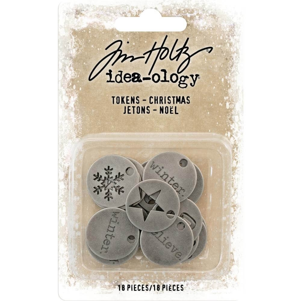 Metálicos Idea-ology Christmas Typed Tokens