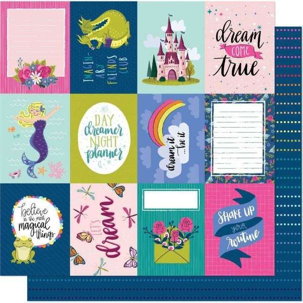 Papel Estampado Doble Cara 12x12 Head In The Clouds Friends Are Forever