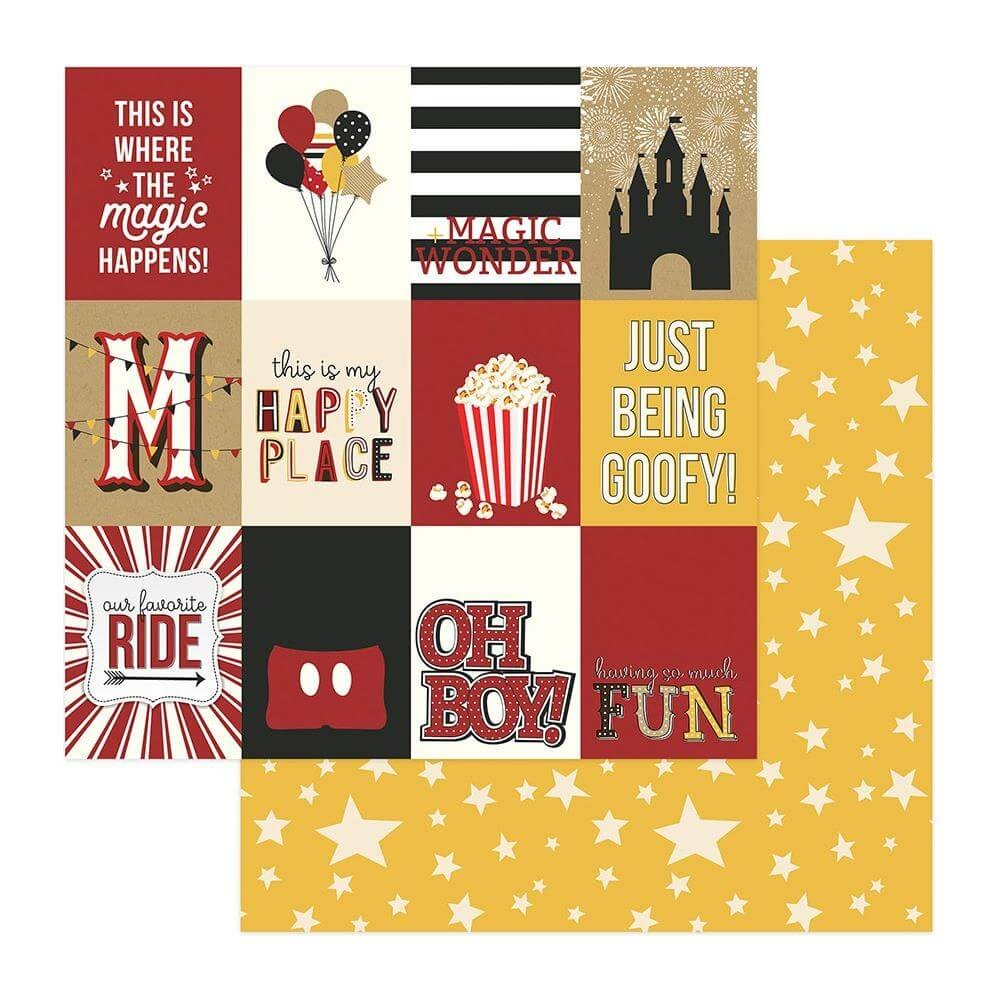"Papel Estampado Doble Cara 12x12 A Day At The Park 3""X4"" Cards"