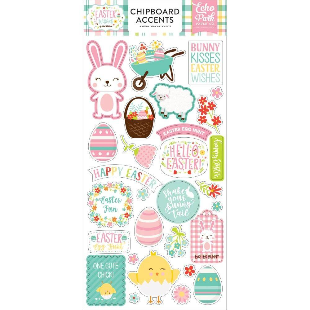 Chipboard Easter Wishes Accents