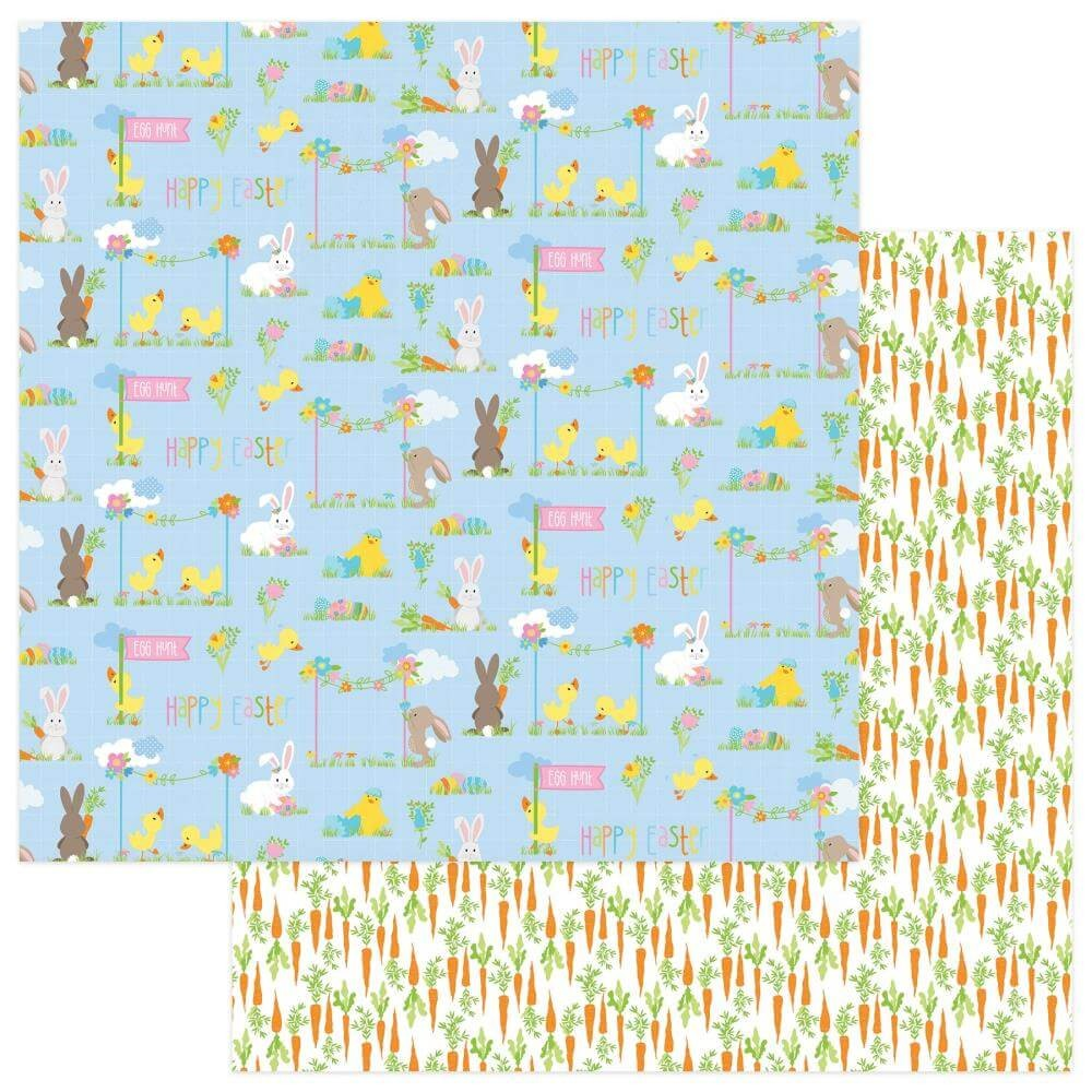 Papel Estampado Doble Cara 12x12 Bunny Trail Easter Parade