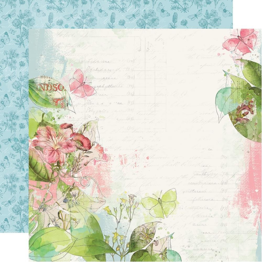Papel Estampado Doble Cara 12x12 Simple Vintage Botanicals Shine Bright