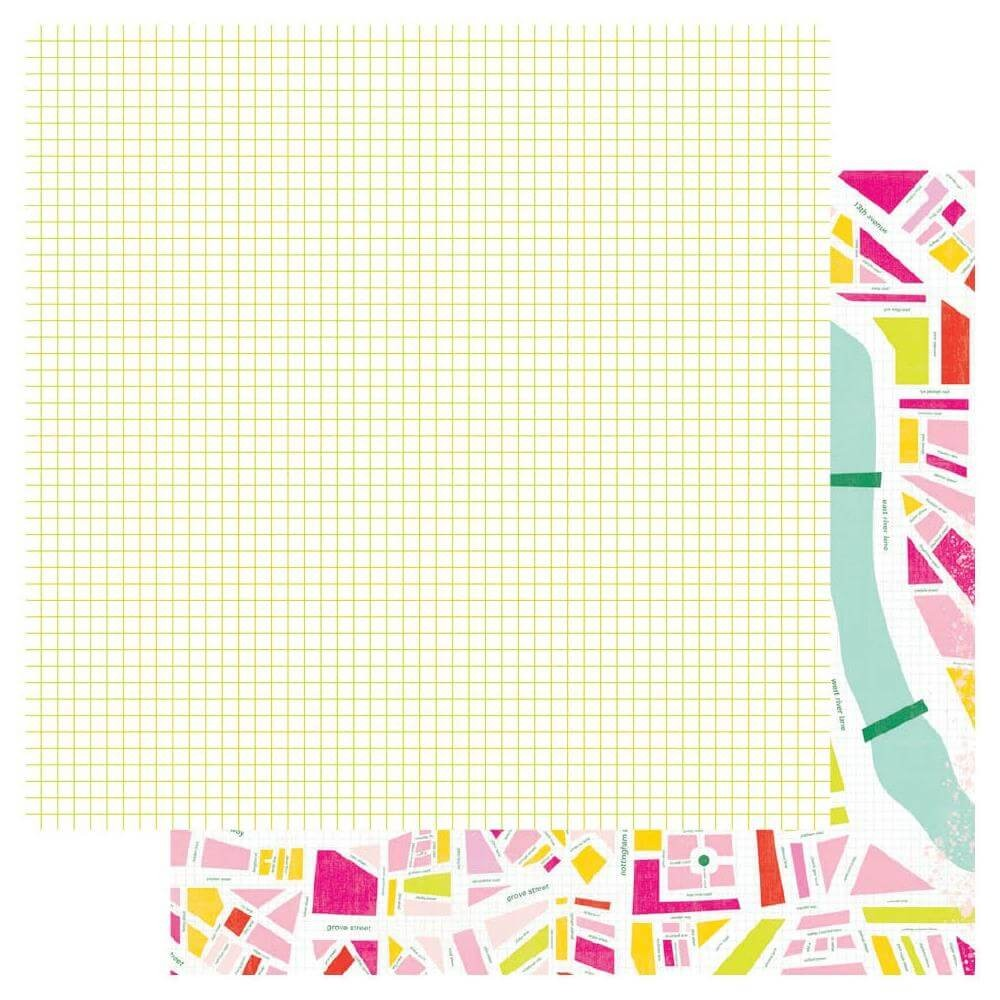 Papel Estampado Doble Cara 12x12 Color Fresh Urban Jungle