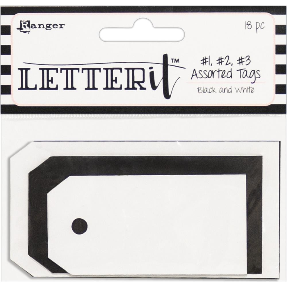 Tags Letter It Black & White