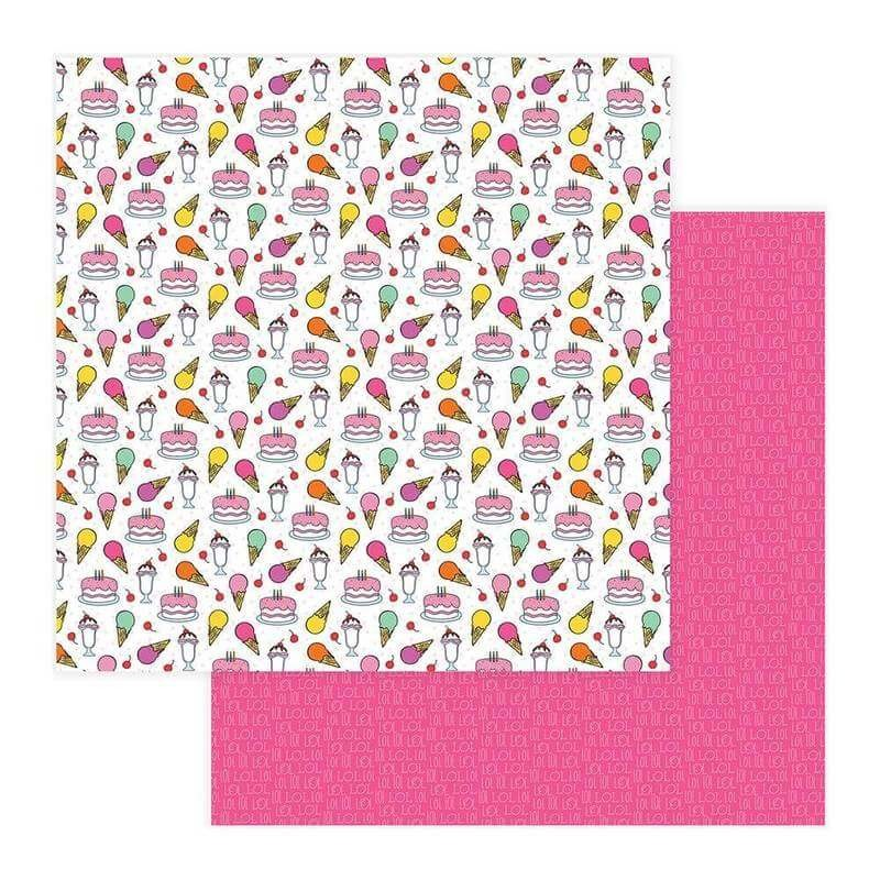 Papel Estampado Doble Cara 12x12 No Pun Intended Sweet Tooth