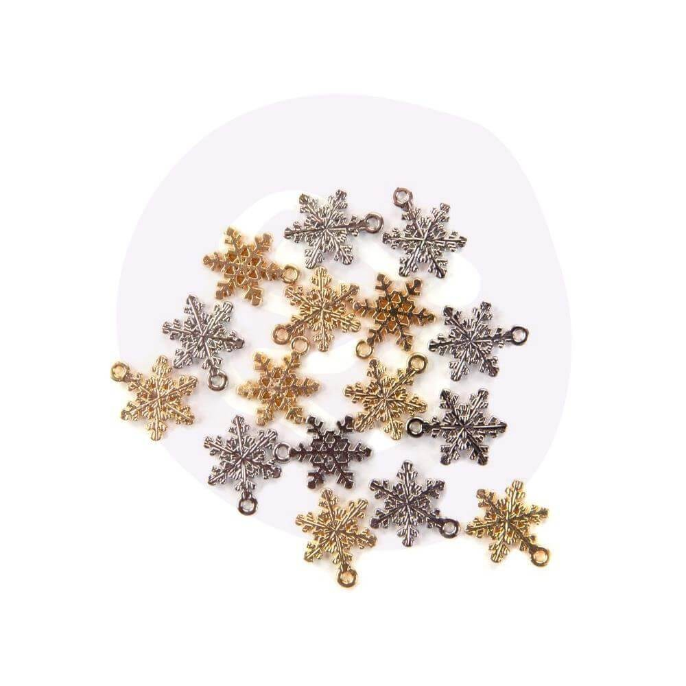 Charm Christmas In The Country Snowflakes