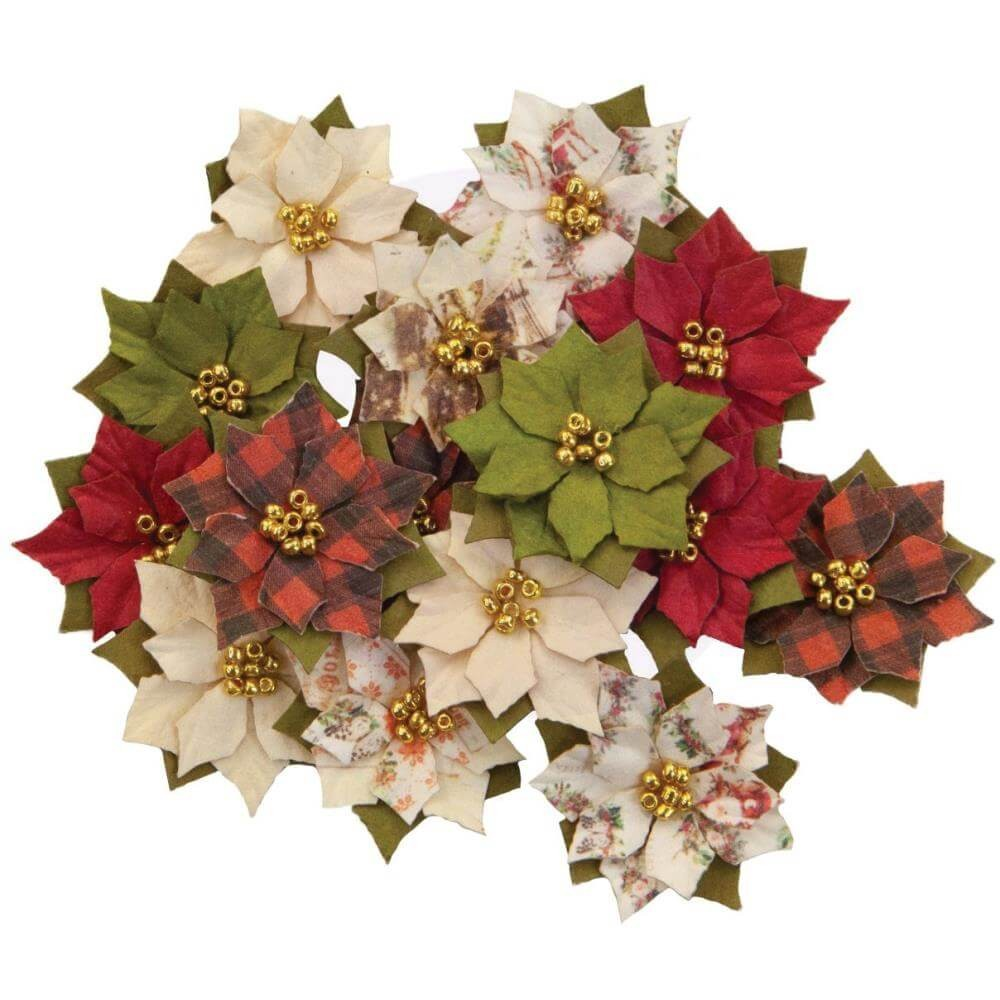 Flores de Papel Christmas In The Country Wonderland