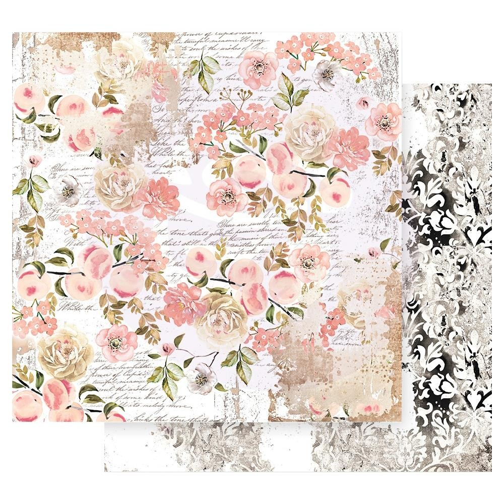 Papel Estampado Doble Cara 12x12 Apricot Honey Sweet Apricot