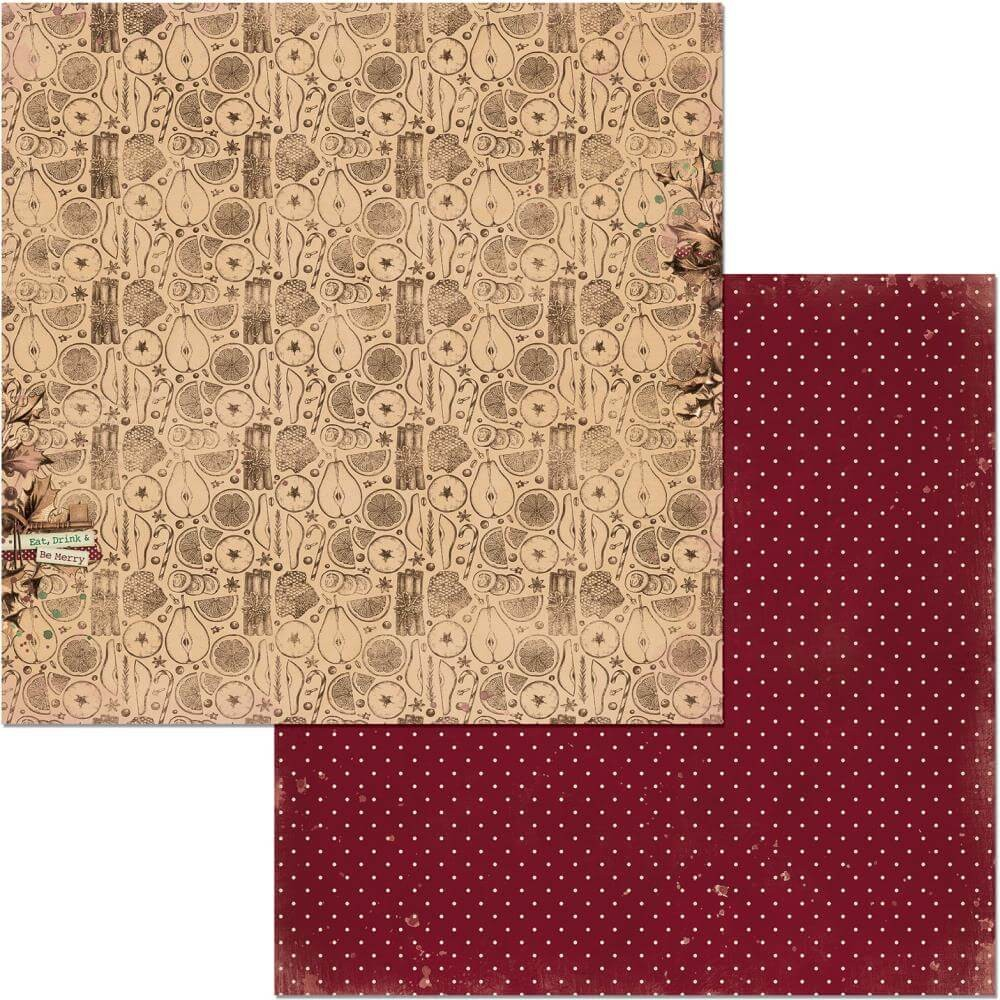 Papel Estampado Doble Cara 12x12 Christmas Treasures Wassail