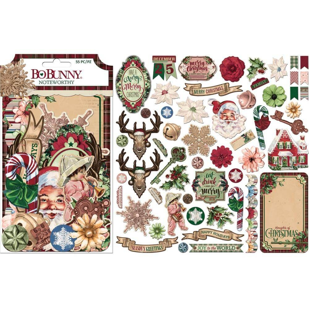 Die Cuts Christmas Treasures Noteworthy