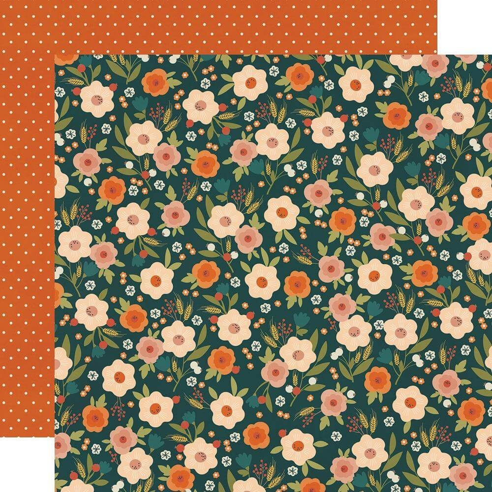 Papel Estampado Doble Cara 12x12 Fall Farmhouse Si