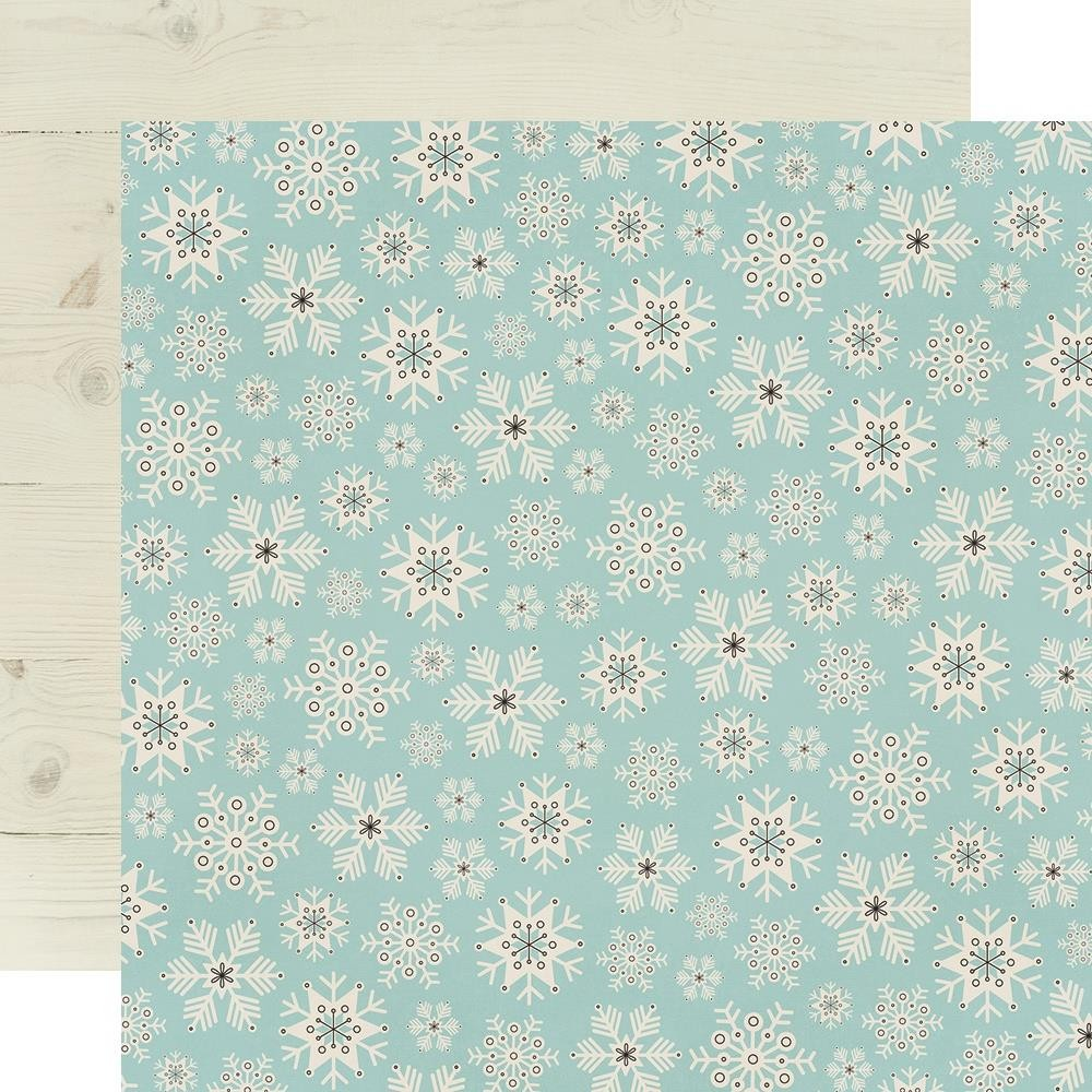 Papel Estampado Doble Cara 12x12 Winter Farmhouse Feelin' Frosty