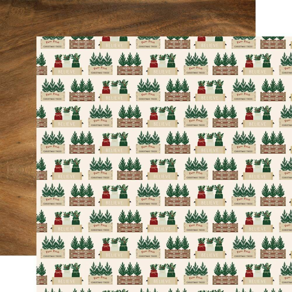 Papel Estampado Doble Cara 12x12 A Cozy Christmas Warm Wishes