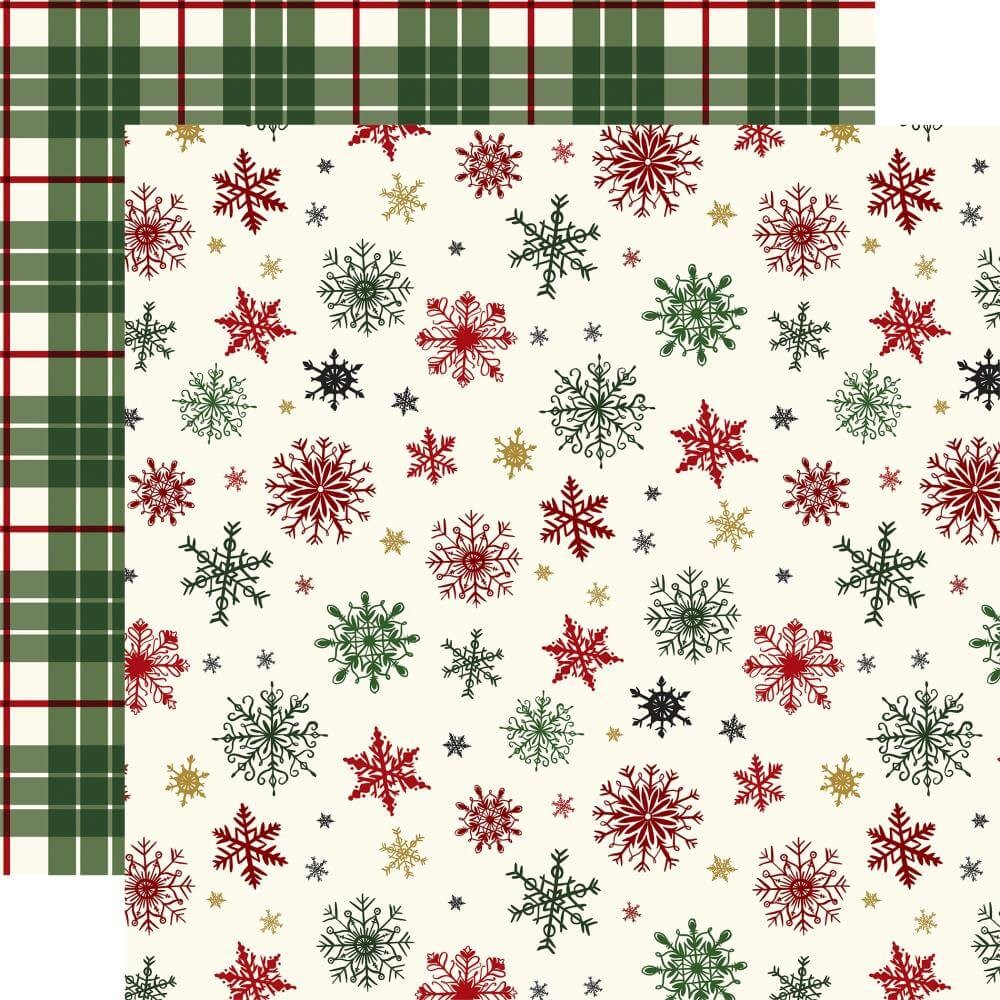 Papel Estampado Doble Cara 12x12 Here Comes Santa Claus Holiday Greetings