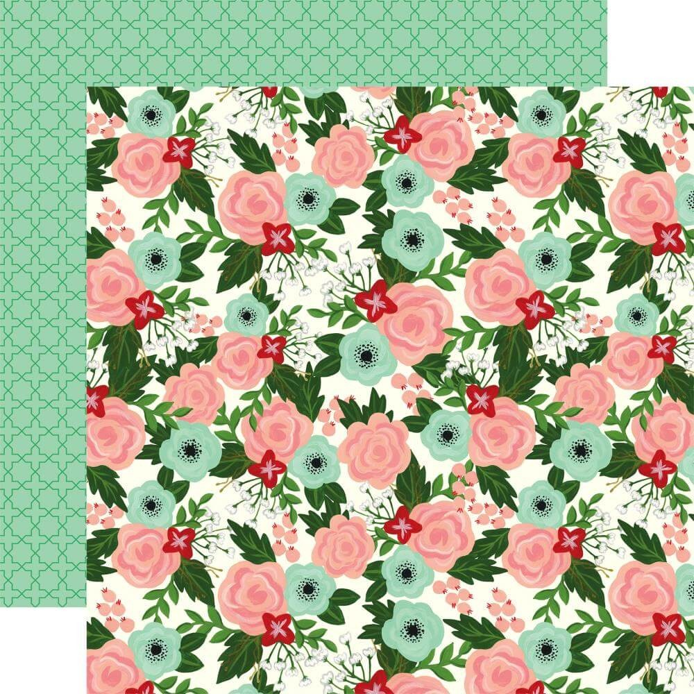 Papel Estampado Doble Cara 12x12 Salon Salon Floral