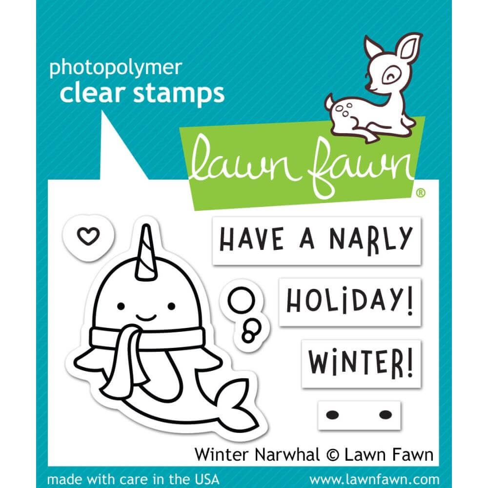 Sello Acrílico 2x3 Lawn Fawn Winter Narwhal