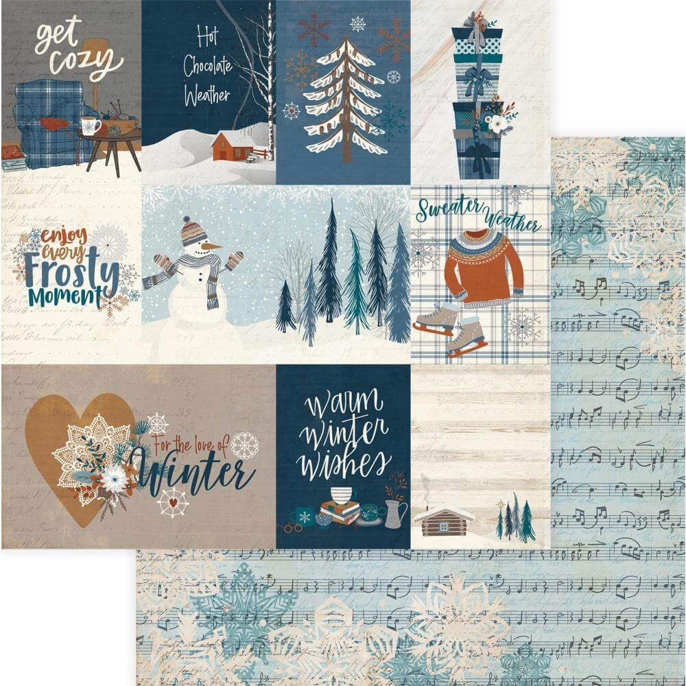 Papel Estampado Doble Cara 12x12 For The Love Of Winter Get Cozy