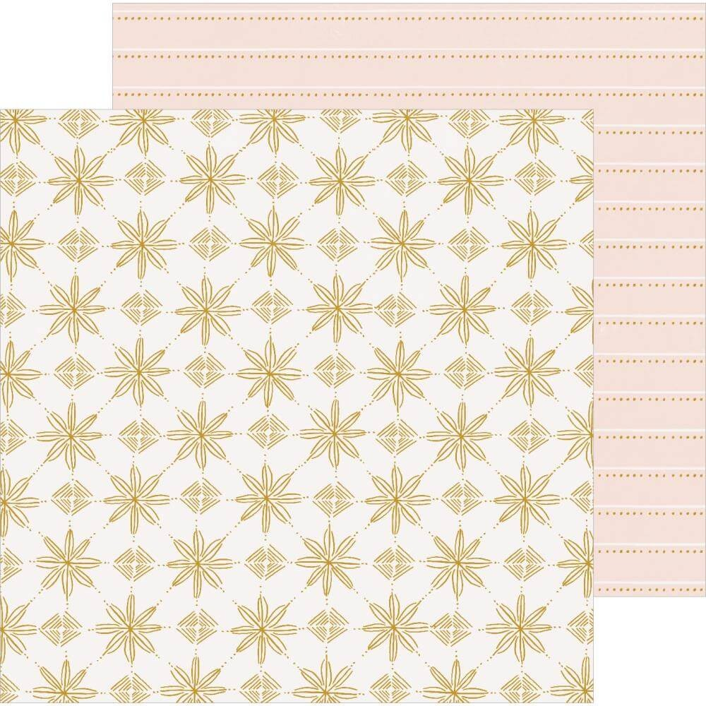 Papel Estampado Doble Cara 12x12 Snowflake Snowcapped