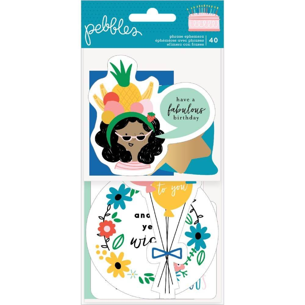 Die Cuts Happy Cake Day Phrase
