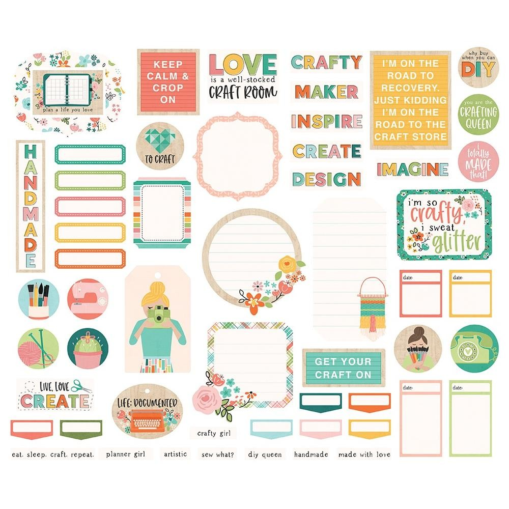 Die Cuts Hey, Crafty Girl Bits & Pieces Journal