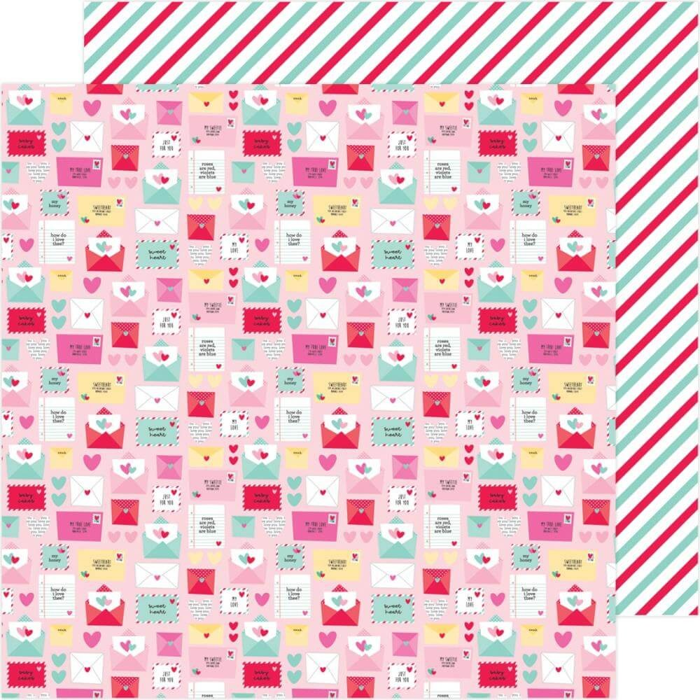 Papel Estampado Doble Cara 12x12 Love Notes Special Delivery