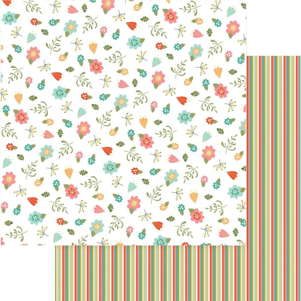 Papel Estampado Doble Cara 12x12 Tulla & Norbert I Love Gnomes