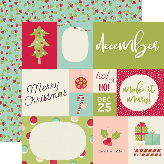 Papel Estampado Doble Cara 12x12 Best Year Ever December