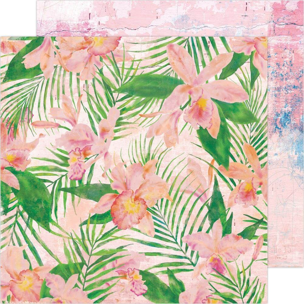 Papel Estampado Doble Cara 12x12 Art Walk Full Bloom