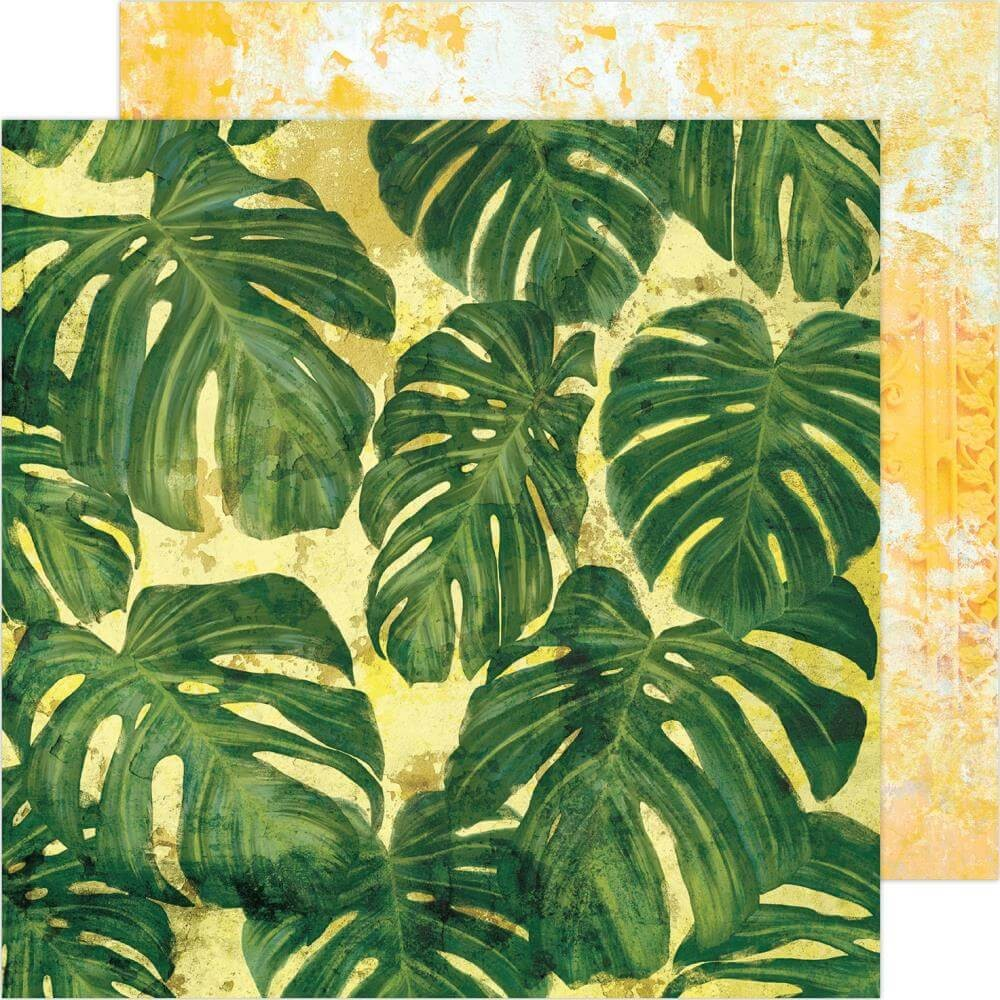 Papel Estampado Doble Cara 12x12 Art Walk Tropics