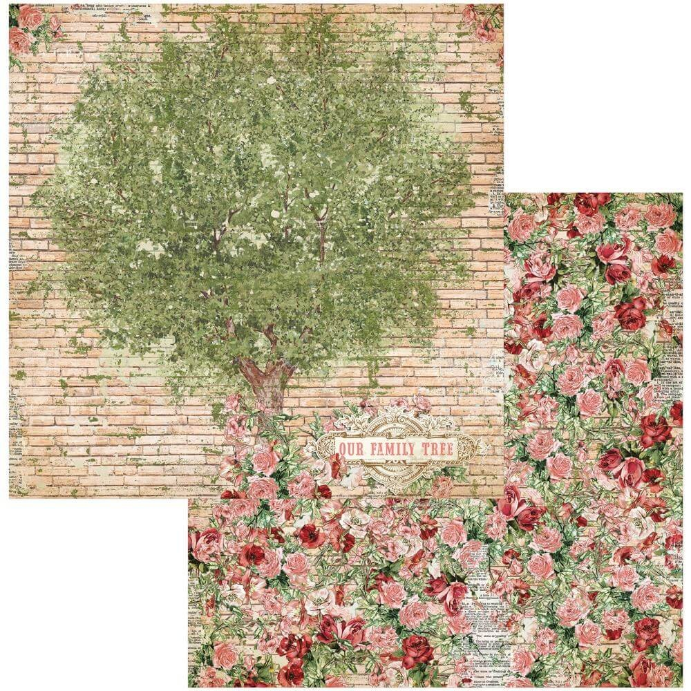 Papel Estampado Doble Cara 12x12 Family Heirlooms Family Heirlooms