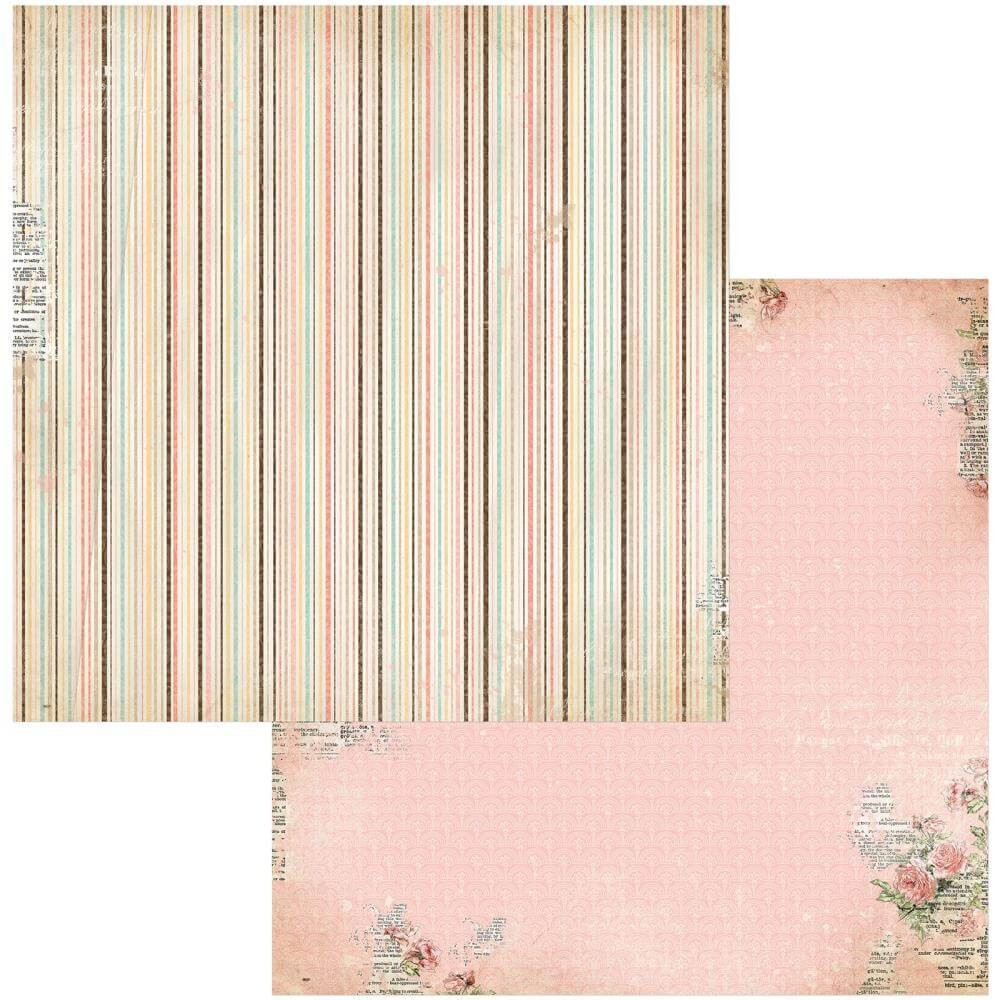 Papel Estampado Doble Cara 12x12 Family Heirlooms Lineage