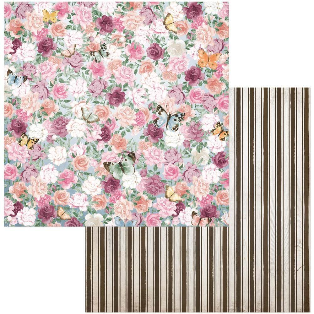 Papel Estampado Doble Cara 12x12 Garden Grove Lovely