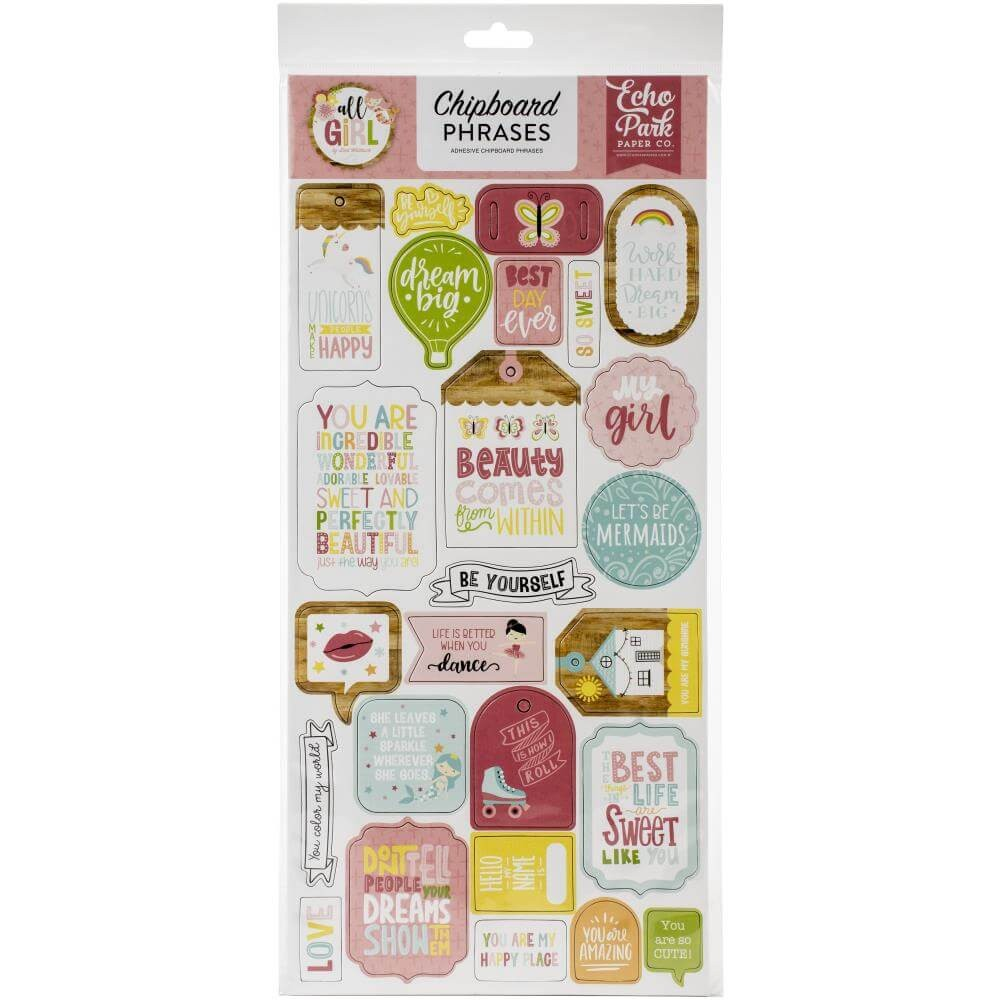 Chipboard 6x13 All Girl Phrases