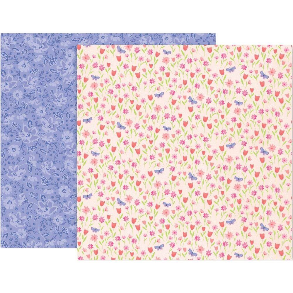 Papel Estampado Doble Cara 12x12 Bloom Street Paige Evans #3