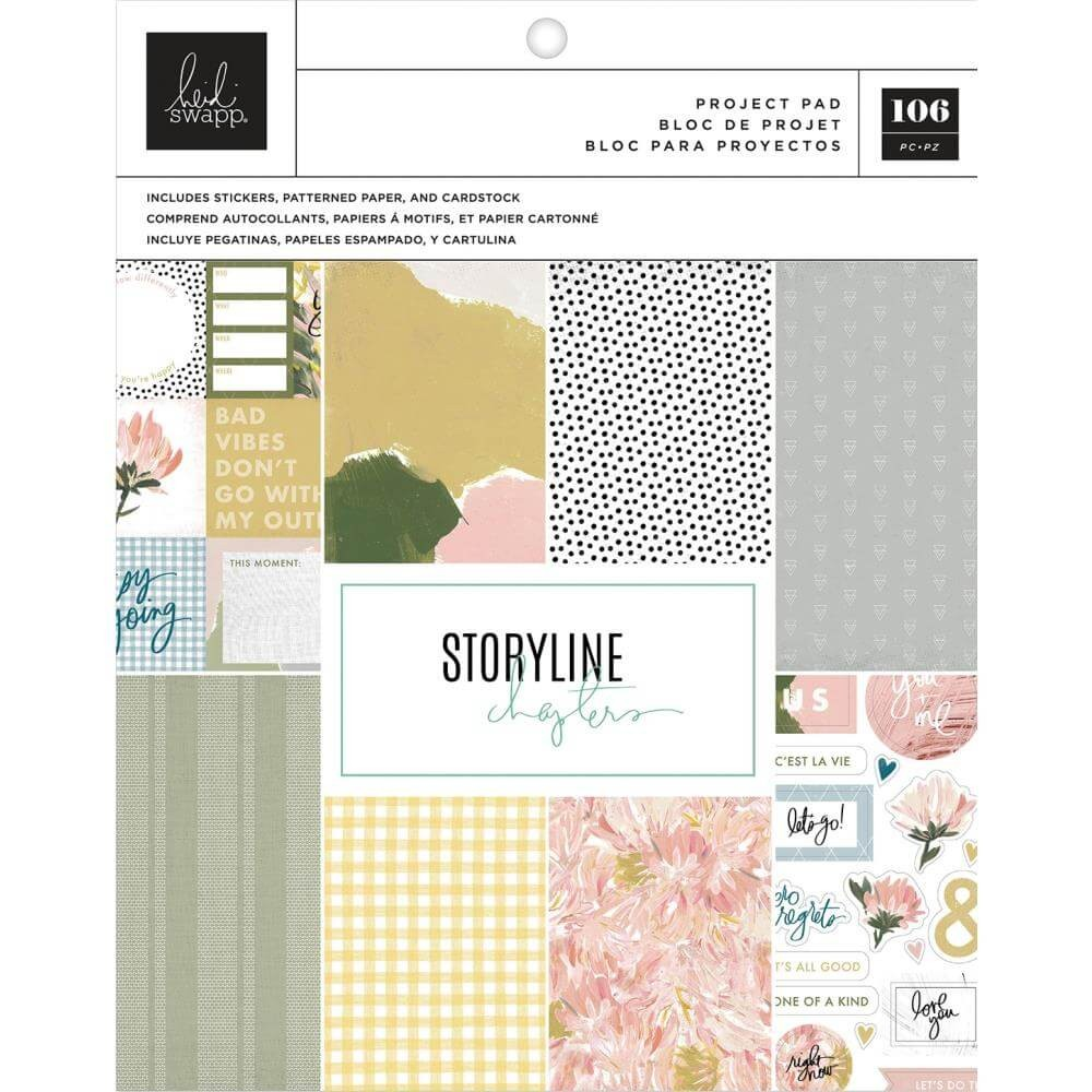 Stack Papeles Estampados Project Pad 7,5x9,5 Storyline The Planner