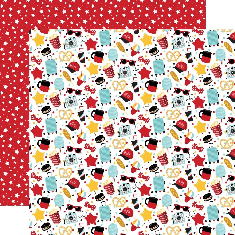 Papel Estampado Doble Cara 12x12 Remember The Magic Main Street