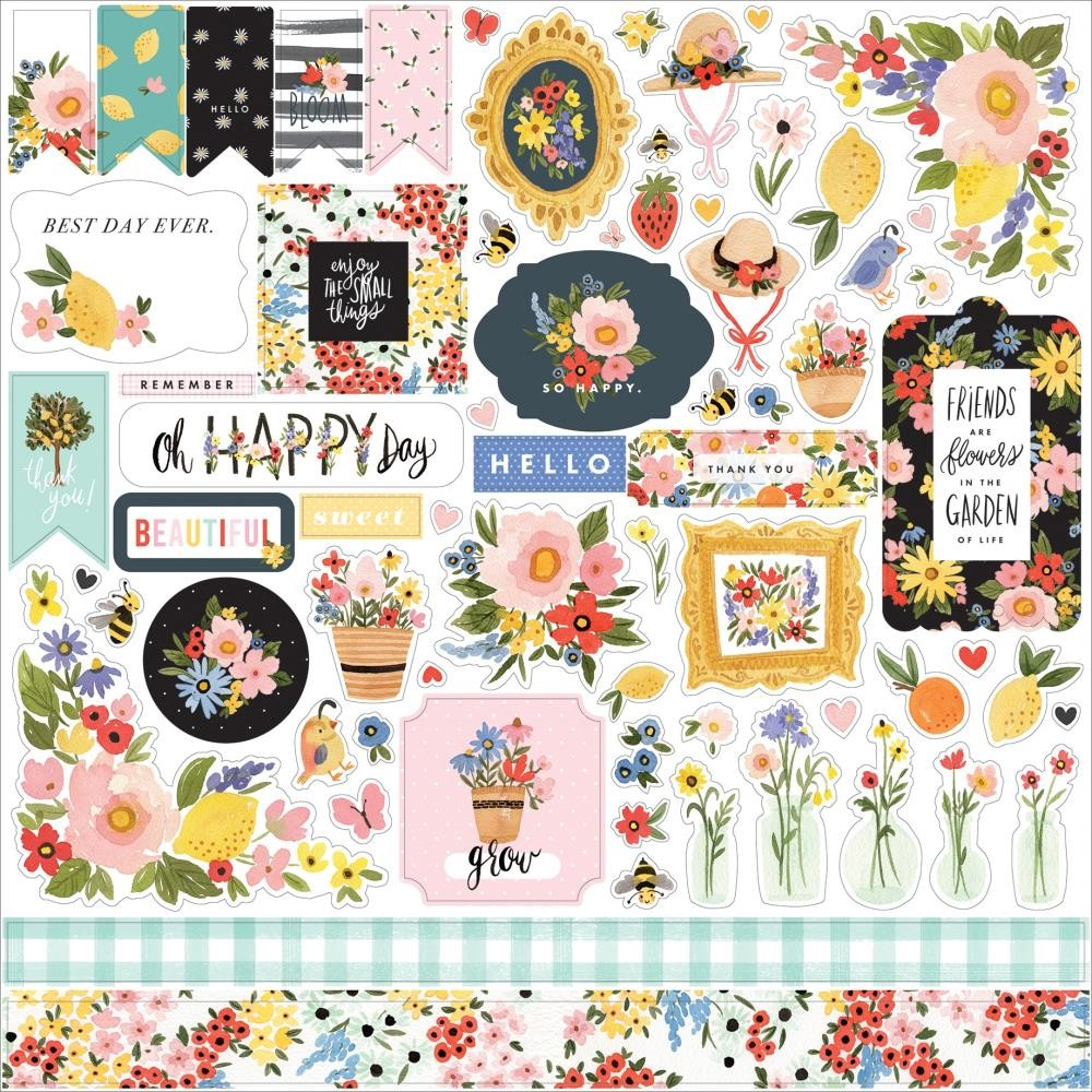 Pegatinas 12x12 Oh Happy Day Spring Elements