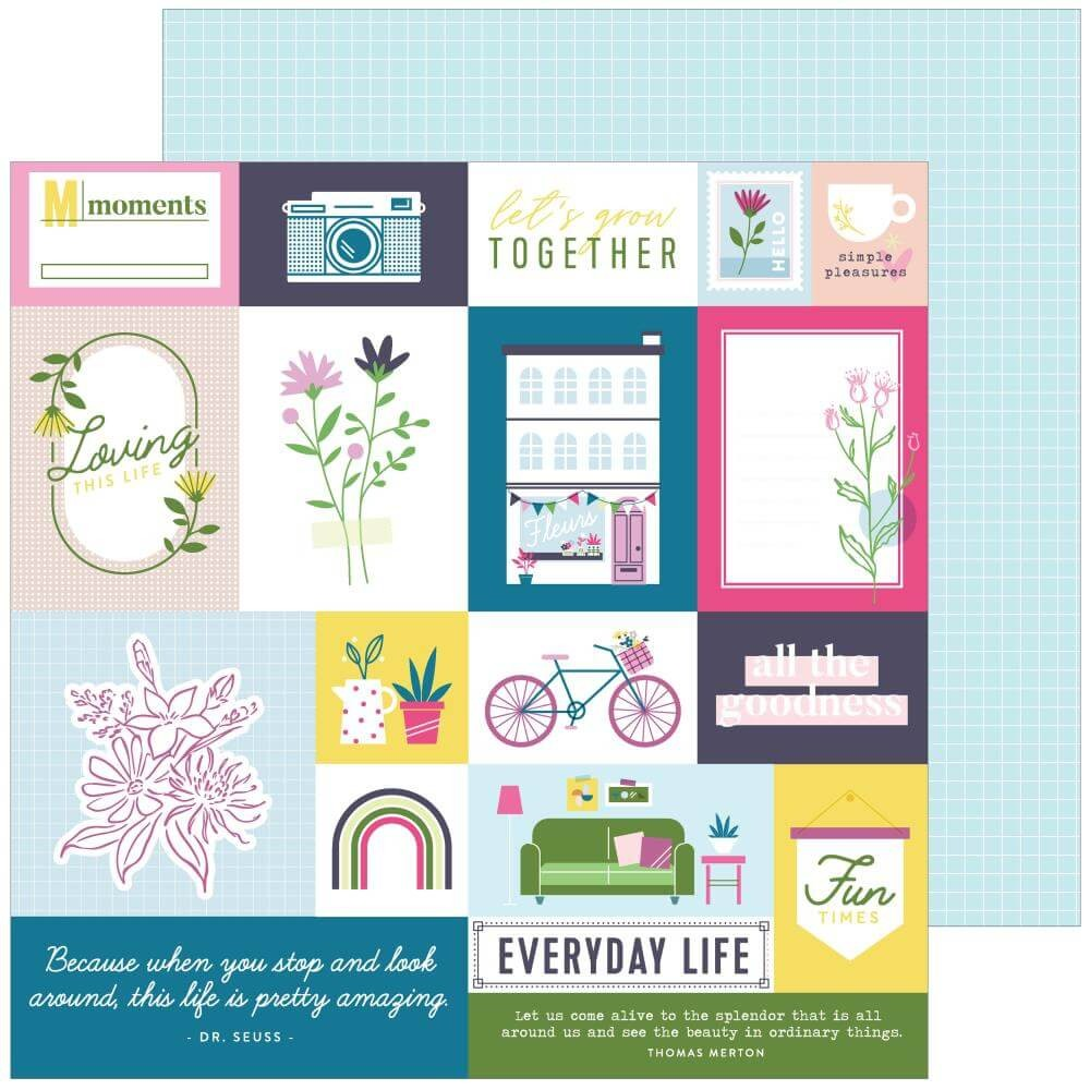 Papel Estampado Doble Cara 12x12 Noteworthy Right Now