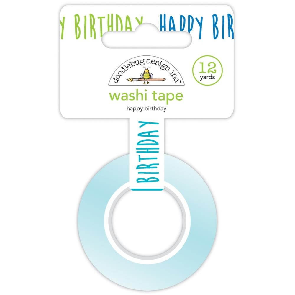 Washi Tape Party Time Happy Birthday