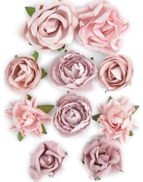 Flores de papel Blooms Dusty Pink