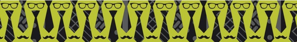 Washi Tape Glasses, Ties & Mustache