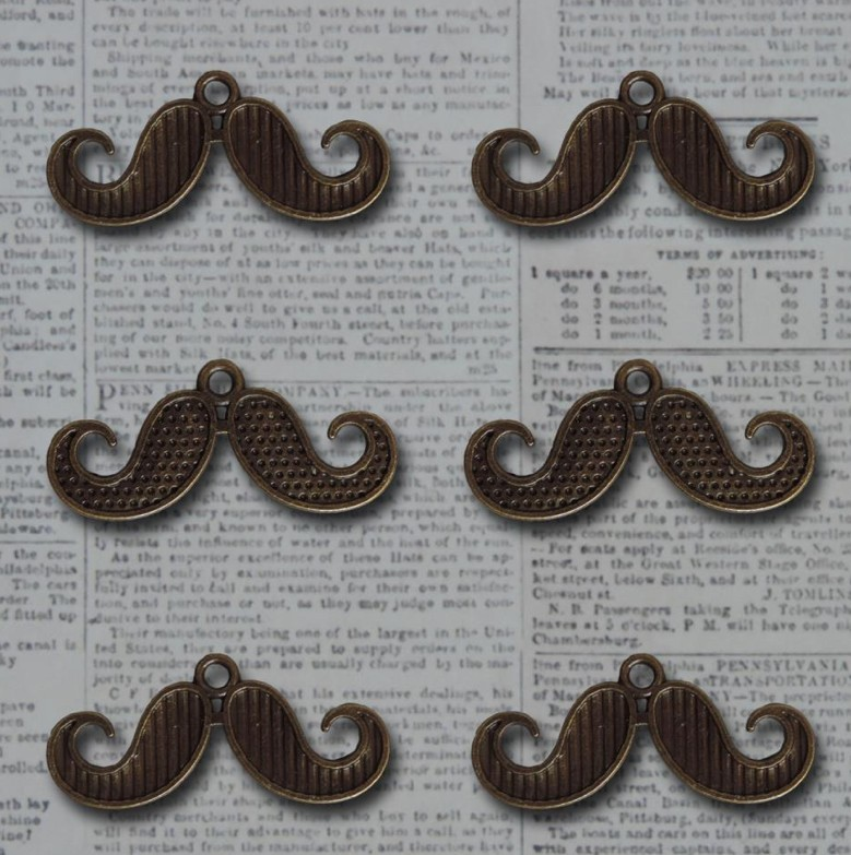 Charms Vintage Findings I Mustache you a question
