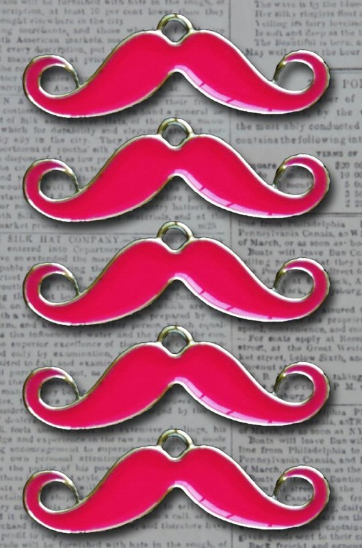 Sorry I Mustache Charms Rosa