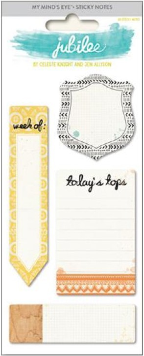 Jubilee Tangerine Sticky Notes