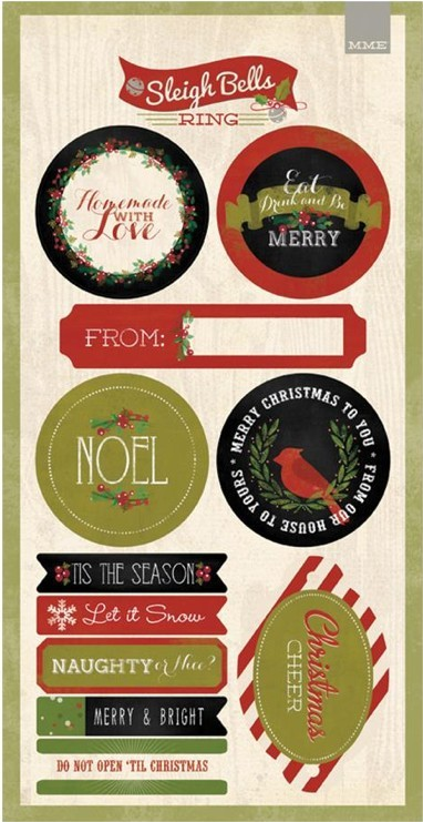 Sleigh Bells Ring Label Stickers