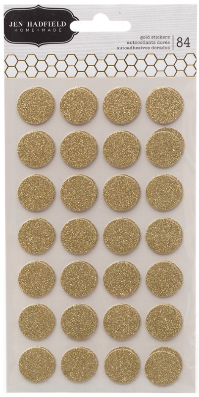 Jen Hadfield Gold Circles Stickers