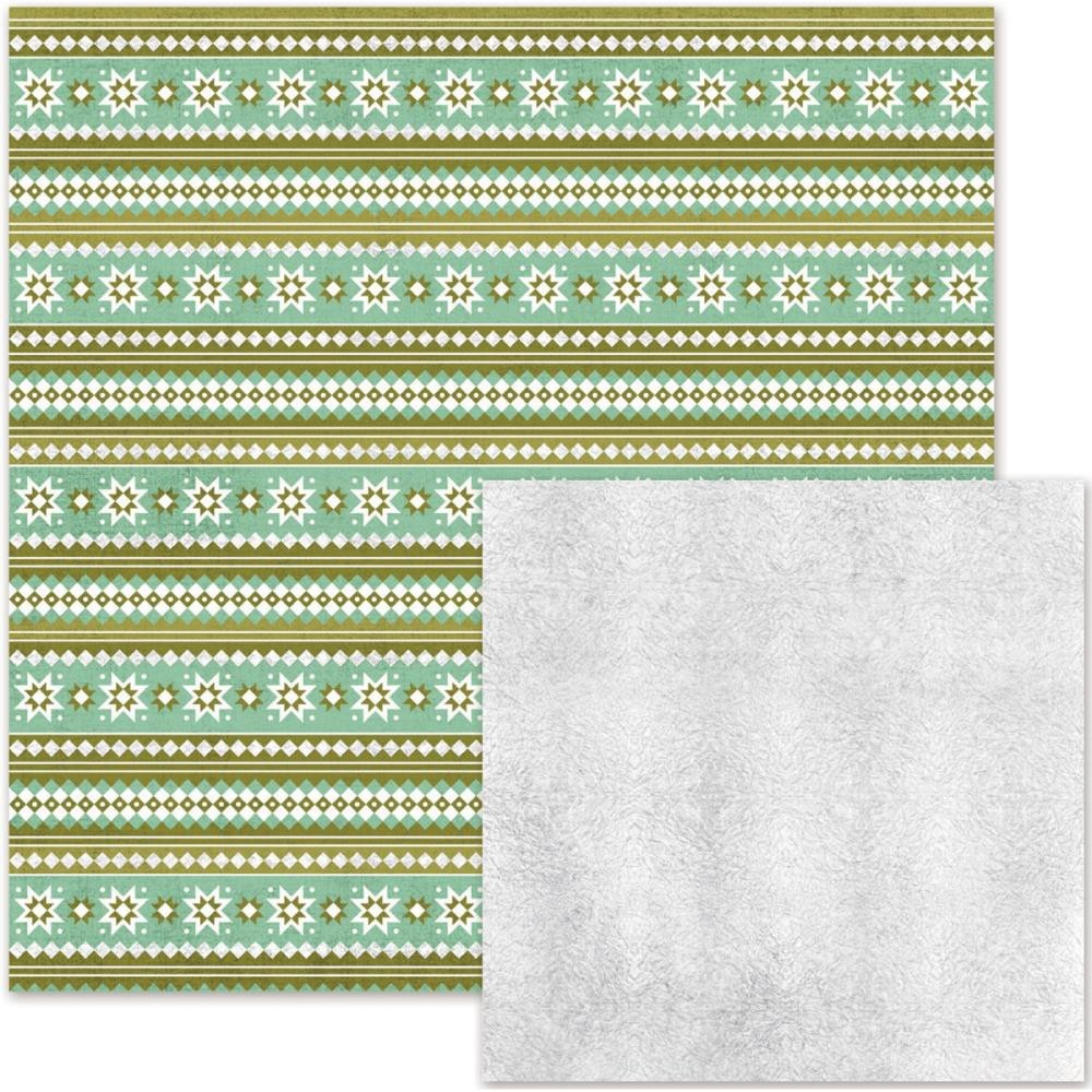 Papel estampado Doble cara 12x12-Silver & Gold-Christmas Sweater