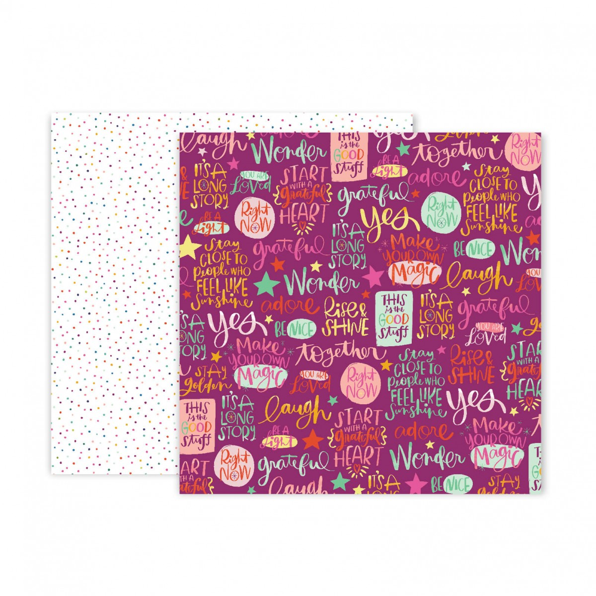 Papel Estampado Doble Cara 12x12 Truly Grateful Paige Evans Paper 17